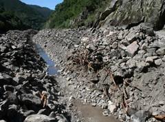 Tramo desecado do río Sil