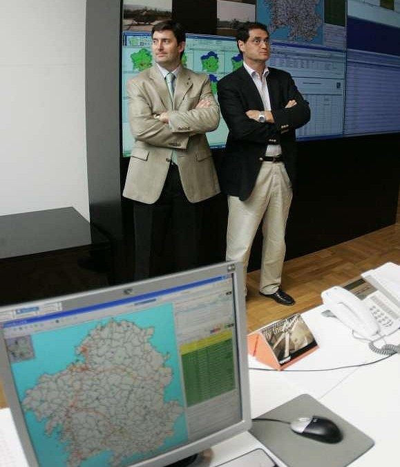 Centro de coordinación contra incendios en Santiago. Tucho Valdés