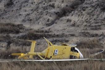 O helicóptero sinistrado