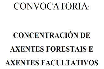 Concentración de Axentes forestais e Axentes facultativos medioambientais