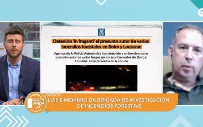 Entrevista a Luís Zarco Casabiell Axente Ambiental do DF IV no programa Quen Anda Aí? da CRTVG