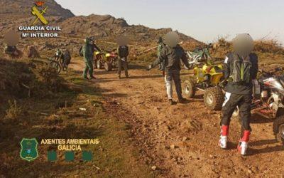 Axentes Ambientais da Xunta e a Garda Civil colaboran para tratar de poñer coto aos que usan os vehículos todoterreo